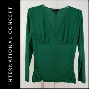 Inc International Concept Woman Ruched Blouse XL